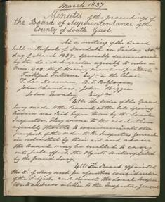 Minutes of proceedings of Board of Superintendence of County of Louth Gaol (Mar, 1837)