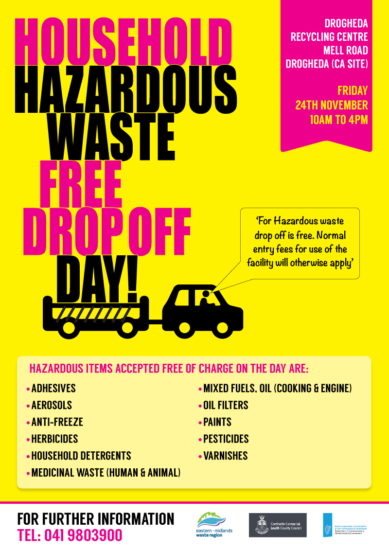Household Hazardous Waste- Free Drop off