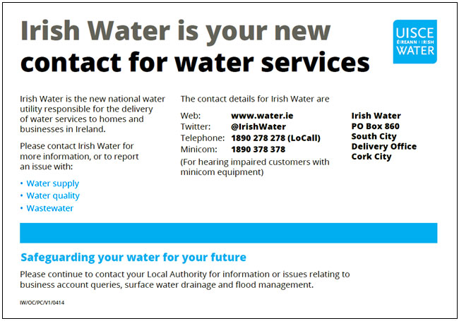 Irish Water Contact Details